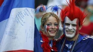 Franceses no Mundial de Futebol 2014 no Brasil.