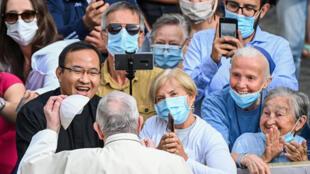 El papa Francisco ante fieles en el Vaticano, el 2 de septiembre de 2020