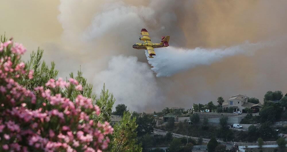 Incêndio no sul de França