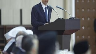 Le président syrien Bachar el-Assad lors de son discours, le 4 août 2013.