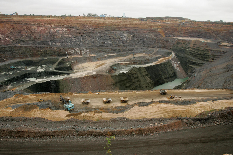 La mine de diamants de Jwaneng, située à 160 km de Gaborone, la capitale du Botswana.