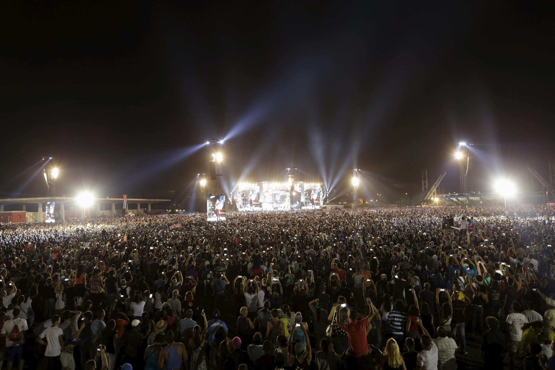 Près de 500 000 personnes se sont déplacées pour assister vendredi 25 mars au premier concert des papys du rock à Cuba.