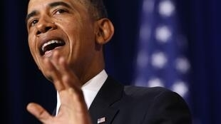 Barack Obama speaks about the National Security Agency from the Justice Department in Washington, 17 January, 2014