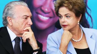 Dilma Rousseff y Michel Temer.
