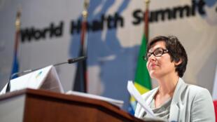 Annick Girardin, secrétaire d'Etat française au Développement et à la Francophonie, lors du sommet mondial de la santé, le 20 octobre à Berlin.