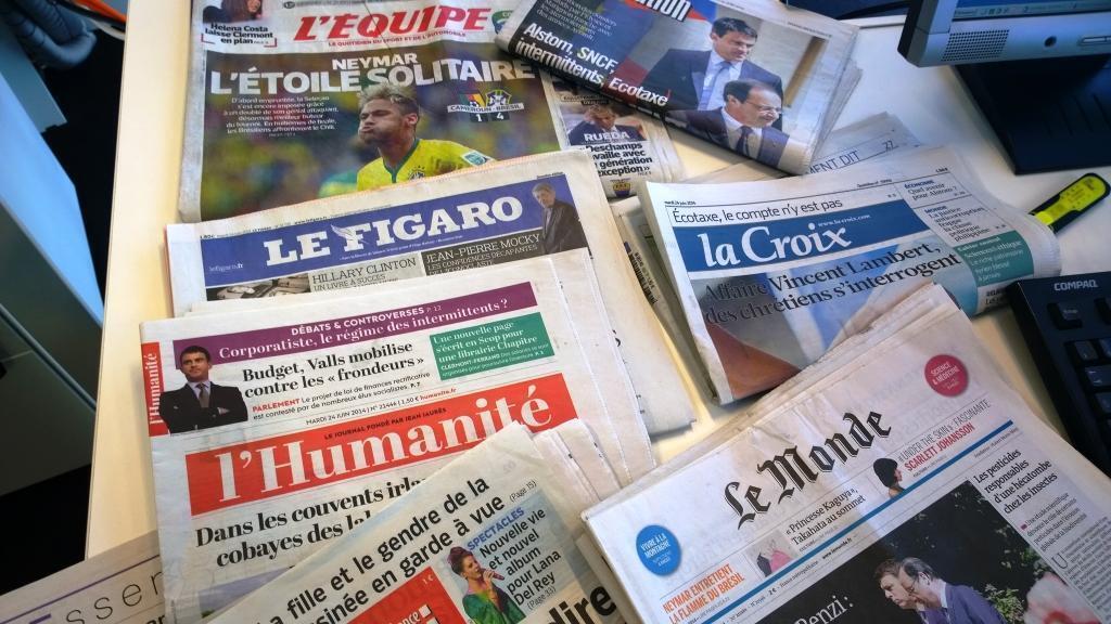 Diários franceses 24/06/2014