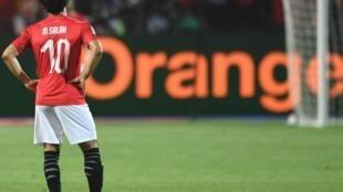 Mohammed Salah akiwa katika hali ya huzuni baada ya kumalizika kwa mchezo dhidi ya Afrika Kusini