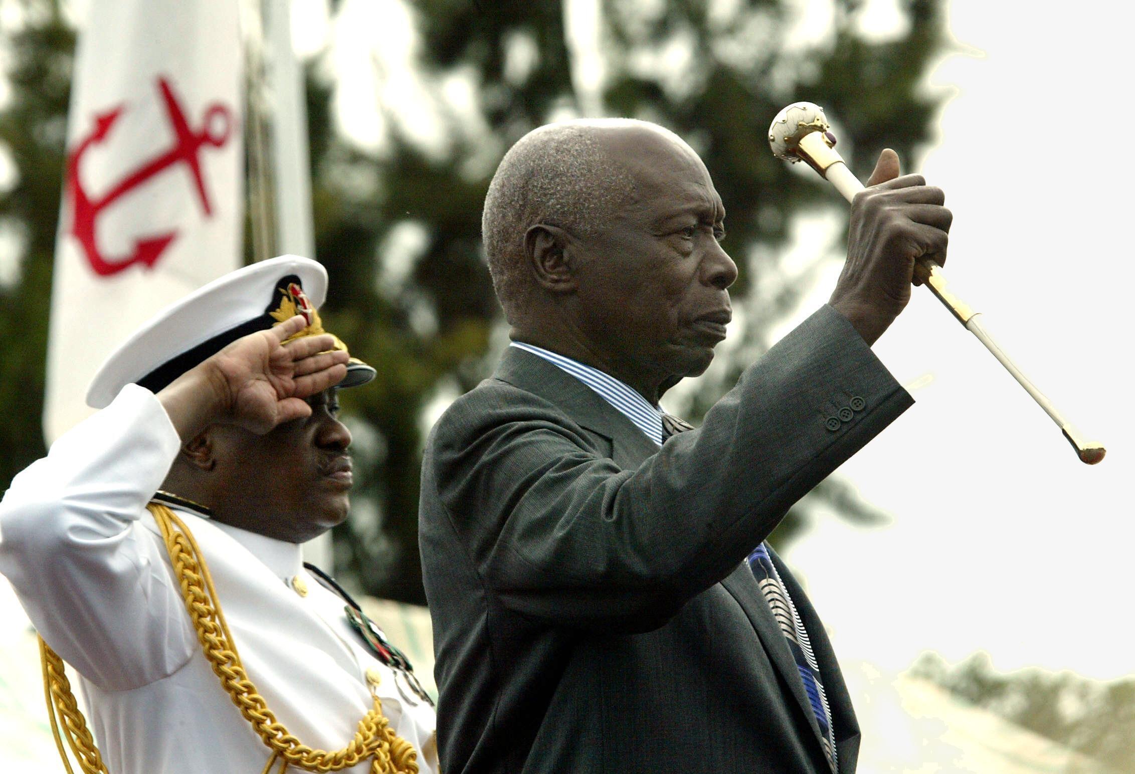 Daniel Arap Moi, former president of Kenya, shortly before his departure from power in 2002.