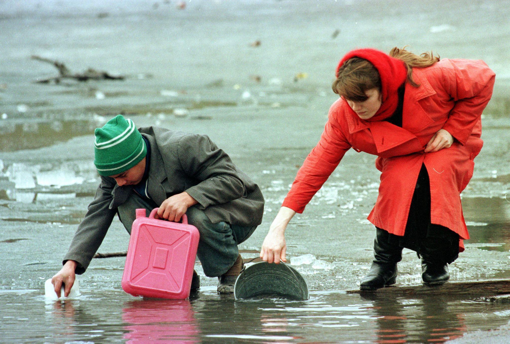 Центр Грозного 17 января 1995 года.