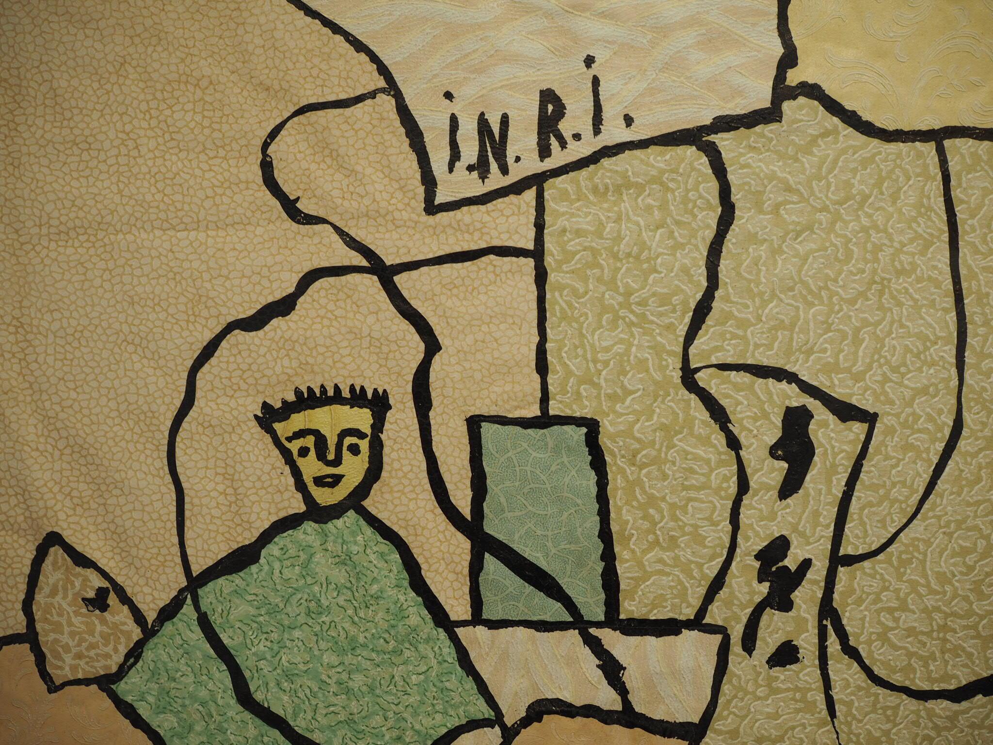 Sa série à base d'échantillons de tapisserie est remarquable.