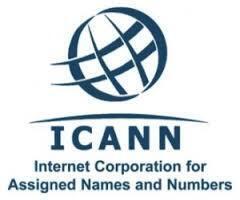 Logo do ICANN, organismo americano que controla a nível mundial a Internet, os domínios e endereços electónicos.