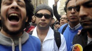 Ahmed Maher au Caire, le 30 novembre 2013.