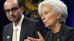 """La directora del FMIn Christine Lagarde consideró que se está en """"una fase crítica""""."""