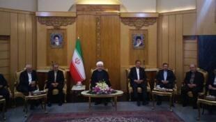 حسن روحانی پیش از عزیمت به بیشکک، یک بار دیگر، آمریکا را بعنوان آغازگر جنگ علیه ملت ایران متهم کرد