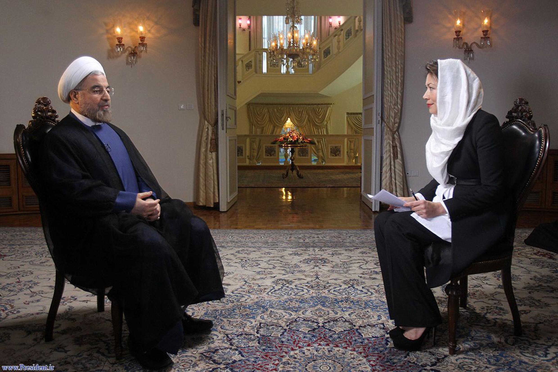 """حسن روحانی، رییس جمهوری جدید ایران در مصاحبه با شبکۀ تلویزیون آمریکایی """"ان بی سی"""""""