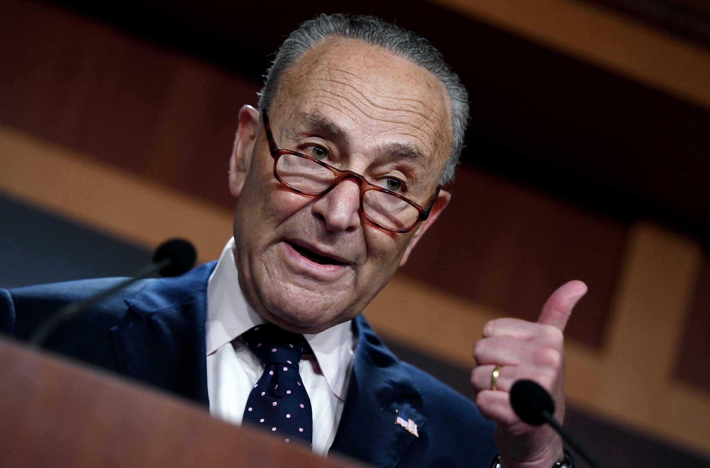 El jefe demócrata del Senado estadounidense Chuck Schumer el 11 de agosto de 2021