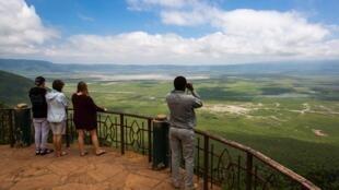 Le cratère du ngorongoro Tanzanie.