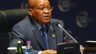 Comme de nombreux chefs d'Etat africains, le président sud-africain Jacob Zuma soutient la création de l'Etat palestinien