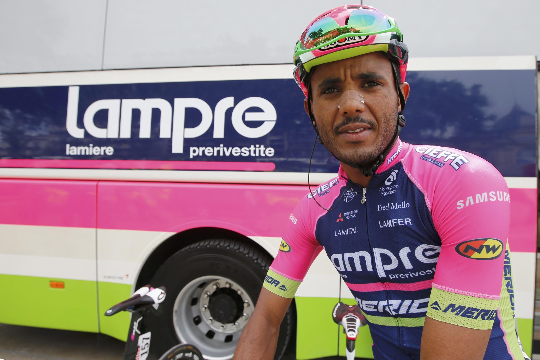 Tsgabu Grmay, au départ de la 12e étape à Montpellier, le 14 jullet 2016.