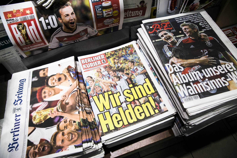 La presse allemande salue à l'unanimité la victoire de la Mannschaft à la Coupe du monde de football 2014 au Brésil.