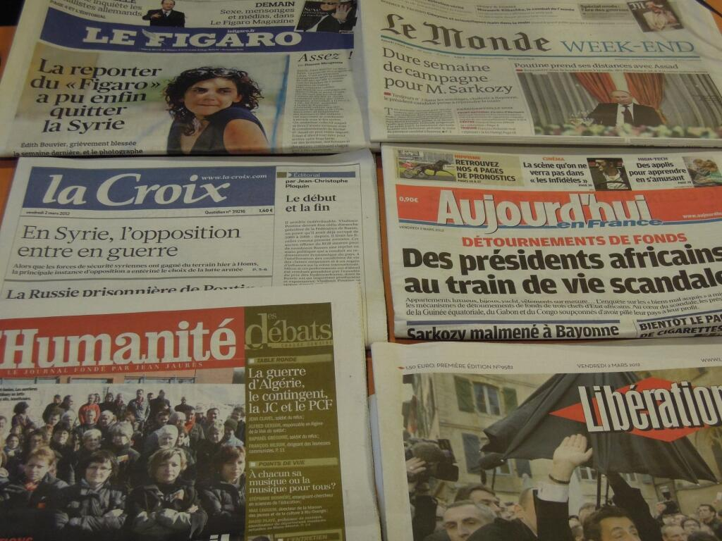 Diários franceses 02/03/2012