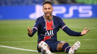 L'attaquant brésilien du Paris Saint-Germain, Neymar, lors du quart de finale retour de la Ligue des Champions contre le Bayern Munich, le 13 avril 2021 au Parc des Princes