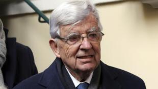 L'ancien ministre français Jean-Pierre Chevènement, le 6 février 2018.
