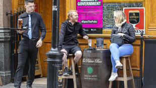 All Ireland's pubs were permitted to open on Monday, except Dublin's drinking-only establishments which remain shuttered