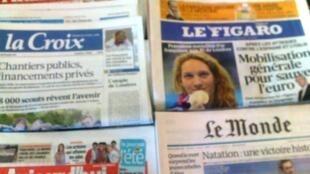 Capas dos jornais de 30/07/12
