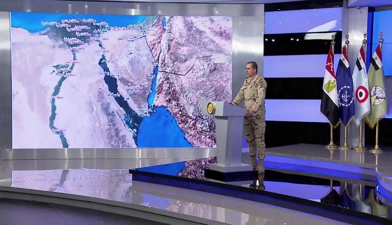 """به گفته مقامات ارتش مصر این عملیات که تحت عنوان """"سینای ۲۰۱۸"""" به اجرا گذاشته شده به دیگر مناطق کشور در سر زمین های """"دلتای نیل"""" نیز تسری داده خواهد شد."""