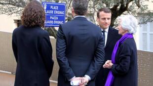 Pdt Macron inaugure la place Claude Erignac le 06/02/2018