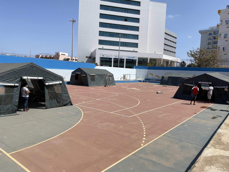 Gimno Desportivo na Cidade da Praia.