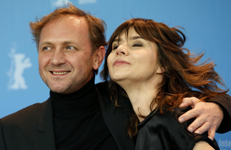 Nữ đạo diễn Malgoska Szumowska và nam diễn viên chính Andrzej Chyra. Ảnh chụp ngày 08/02/2013