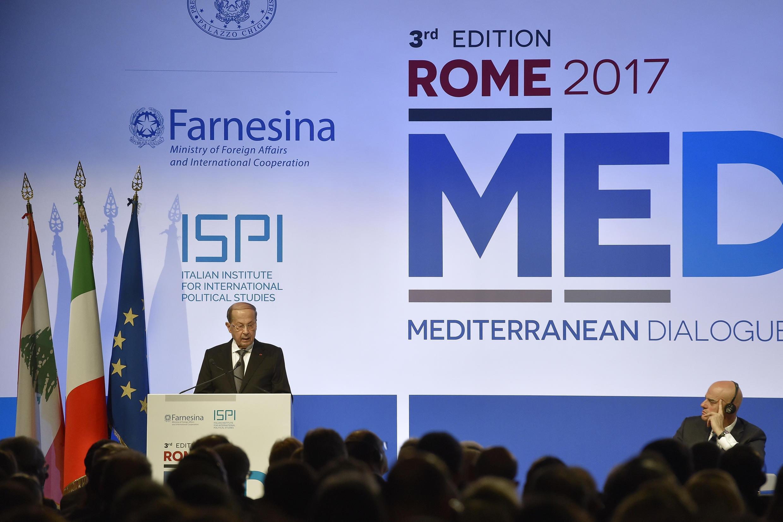 Cúpula dos Diálogos Mediterrânicos (MED), uma conferência de três dias sobre segurança na região do Mediterrâneo, em Roma. 30/11/17