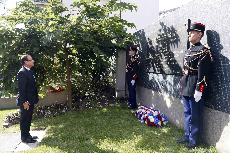 """Франсуа Олланд на памятной церемонии по случаю годовщины """"облавы Зимн"""