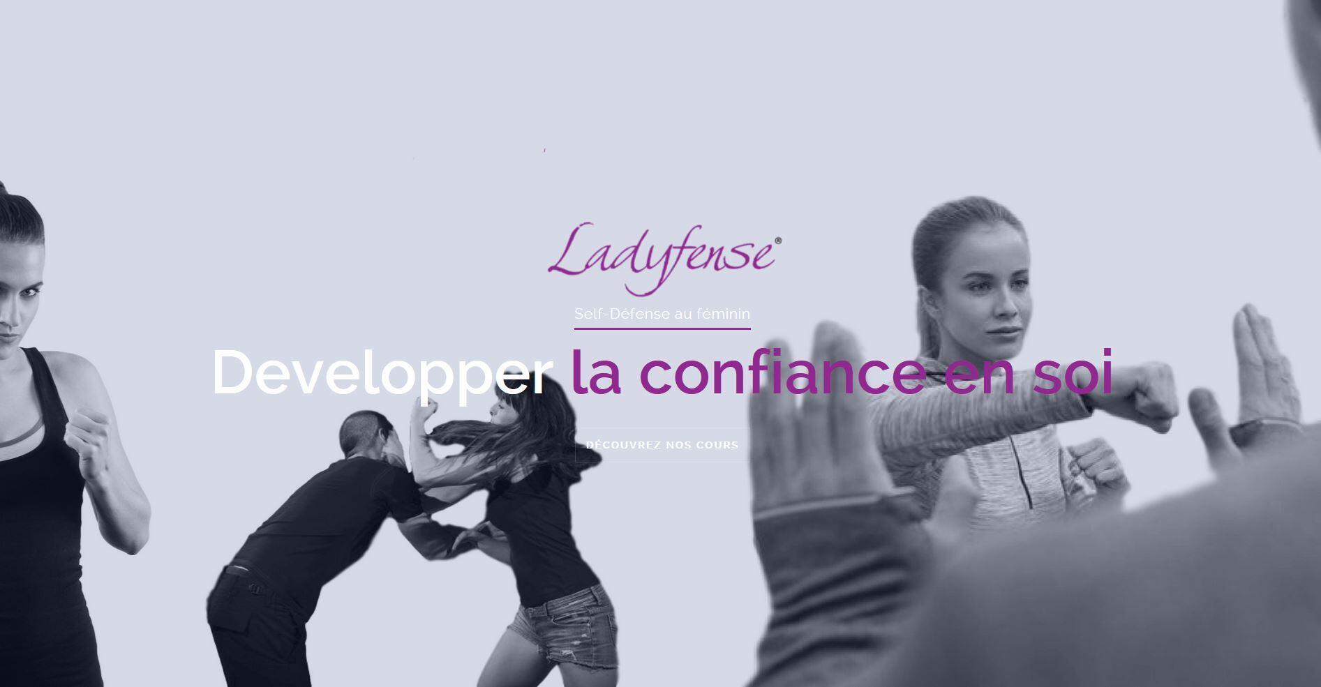 Capture écran du site suisse qui propose des cours d'autodéfense pour femmes.