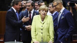 Европейские лидеры на саммите в Брюсселе, 16 июля 2014.