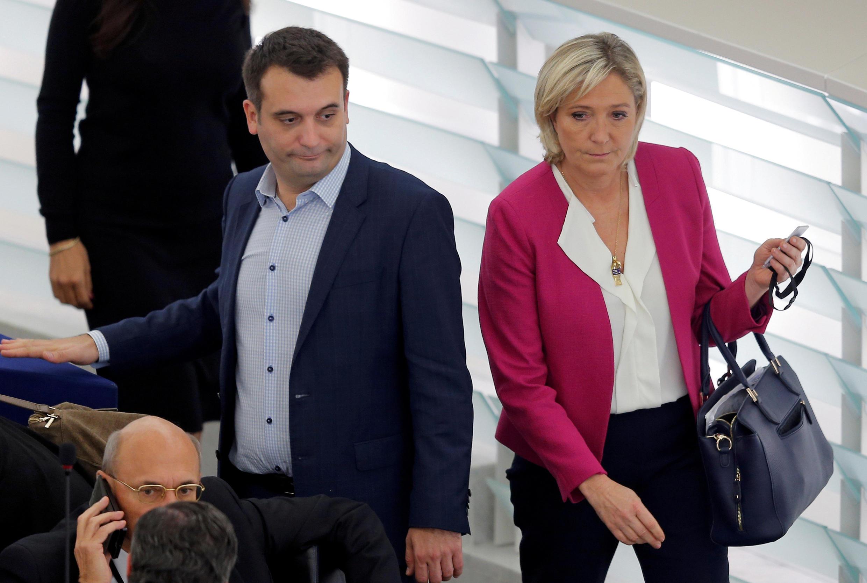 Florian Philippot y Marine Le Pen.