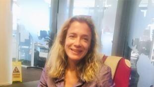 L'écrivaine Oriane Jeancourt Galignani en studio à RFI, en juillet 2020.