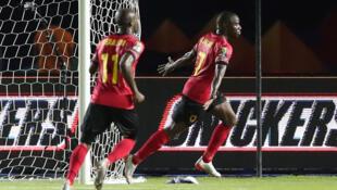 Djalma (direita) apontou o único golo angolano frente à Tunísia.