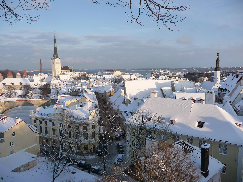 Tallinn, capitale de l'Estonie.