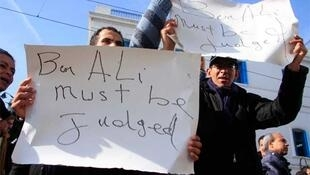Protestors took to the streets of Tunis again on Monday to call on the ruling party of the ousted president give up power