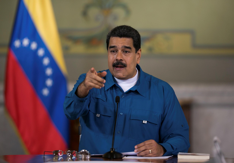 O presidente venezuelano, Nicolás Maduro, no dia 16 de fevereiro em Caracas.
