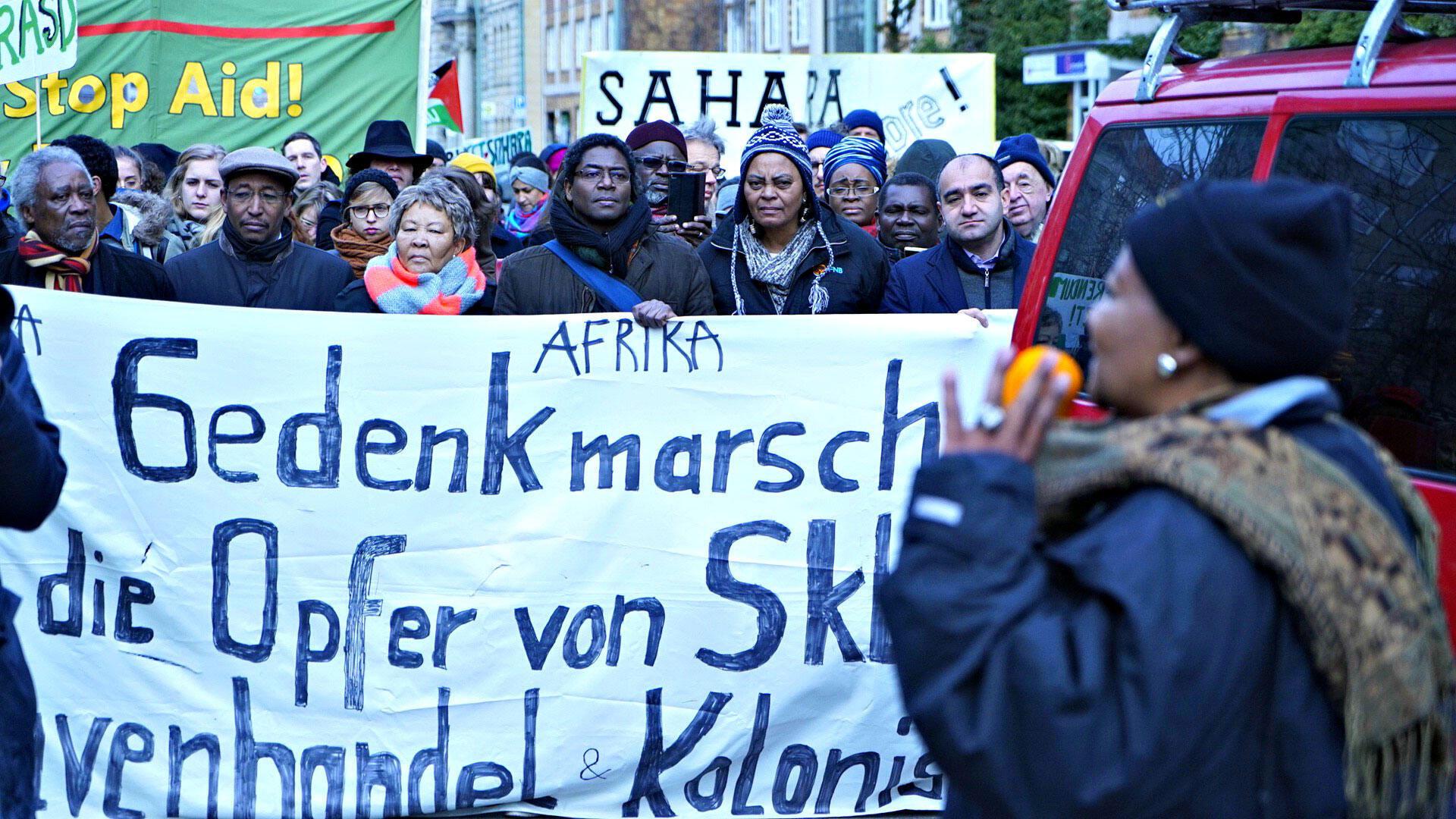 A Berlin, le 25 février (date anniversaire de la conférence de Berlin, 1885), marche en mémoire des victimes du colonialisme.