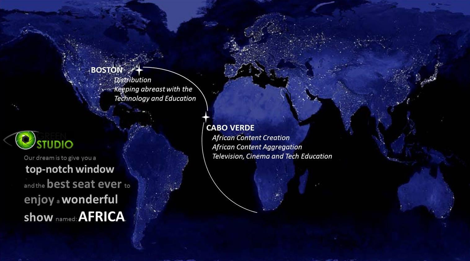 Captura do perfil da empresa caboverdiana Studio Green no Facebook