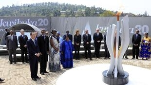Commémorations du  20e anniversaire du génocide de 1994 au Rwanda.