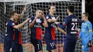 Jogo de PSG/Valenciennes de 14 de fevereiro 2014