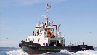 Le remorqueur acquis par le Port de Cotonou grâce au financement du Millenium Challenge Program.