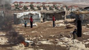 Maale Adoumim, une colonie juive en Cisjordanie, située à l'est de Jérusalem.