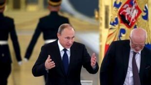 Le président russe, Vladimir Poutine, ce 1er octobre 2015 au Kremlin.
